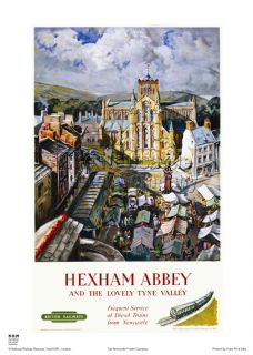 Hexham Abbey and the Lovely Tyne Valley - Railway & Travel Poster
